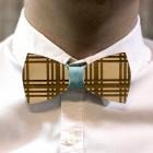 Деревянная галстук-бабочка из фанеры AB001