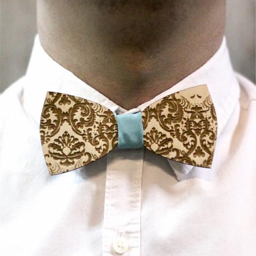 Деревянная галстук-бабочка из фанеры AB003