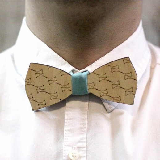 Деревянная галстук-бабочка из фанеры AB009