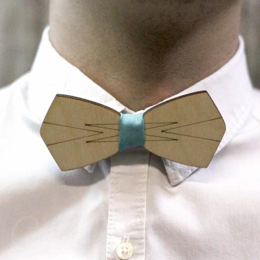 Деревянная галстук-бабочка из фанеры AB023