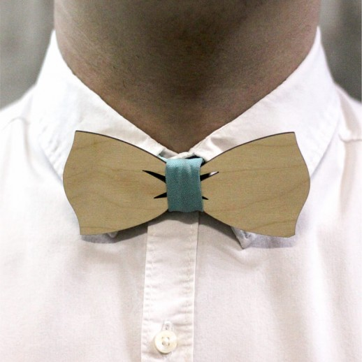 Деревянная галстук-бабочка из фанеры AB028
