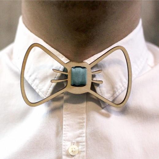 Деревянная галстук-бабочка из фанеры AB036