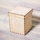 Коробка шляпная с крышкой, фанера К001