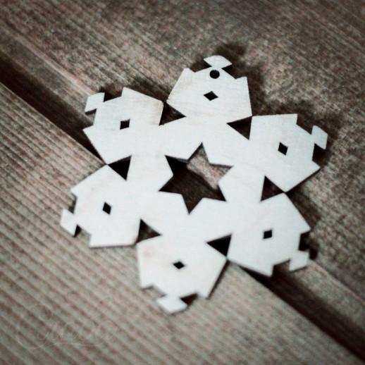 Игрушка Снежинка NY016