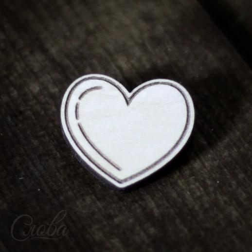 Значок Сердце Z048